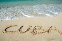 Spiaggia della Cuba Immagini Stock Libere da Diritti