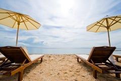Spiaggia della destinazione di festa Fotografia Stock Libera da Diritti