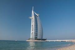 Spiaggia della Doubai, UAE Immagini Stock