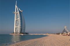 Spiaggia della Doubai, UAE Immagine Stock