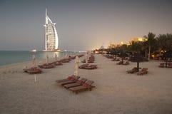 Spiaggia della Doubai, UAE Fotografia Stock