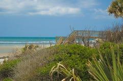 Spiaggia della Florida vicino a St Augustine Fotografia Stock