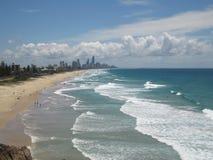 Spiaggia della Gold Coast Fotografia Stock