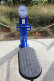 Scricchiolio di ab, macchina del sollevamento della gamba Fotografie Stock