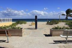 Spiaggia della leccia, spiaggia di Florida Fotografia Stock