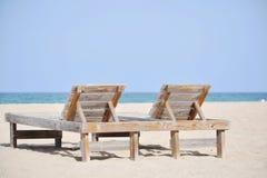 Spiaggia della località di soggiorno Fotografie Stock Libere da Diritti