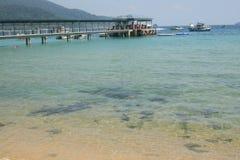 Spiaggia della Malesia in Tioman Fotografia Stock Libera da Diritti