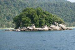 Spiaggia della Malesia in Tioman Immagini Stock Libere da Diritti