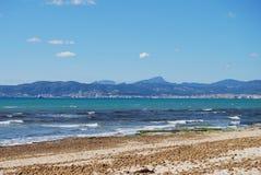 Spiaggia della Mallorca Fotografia Stock