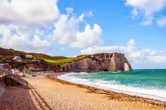 Spiaggia della Normandia Fotografia Stock