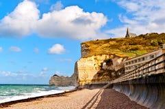 Spiaggia della Normandia Fotografie Stock Libere da Diritti