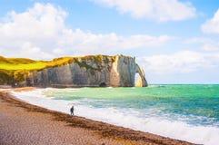 Spiaggia della Normandia Fotografia Stock Libera da Diritti