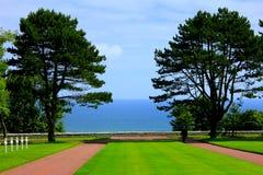 Spiaggia della Normandia Omaha fotografia stock libera da diritti