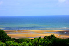 Spiaggia della Normandia Omaha fotografie stock