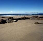 Spiaggia della Nuova Zelanda Immagini Stock