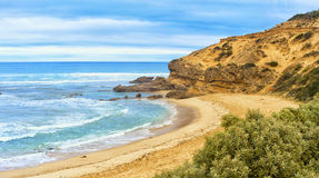 Spiaggia della parte posteriore di Sorrento Immagini Stock