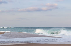 Spiaggia della roccia del sale Immagini Stock Libere da Diritti