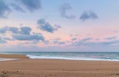 Spiaggia della roccia del sale Fotografie Stock