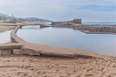 Spiaggia della roccia del sale Immagine Stock