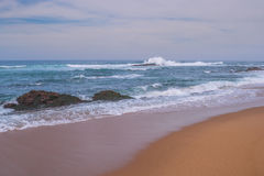 Spiaggia della roccia del sale Fotografie Stock Libere da Diritti