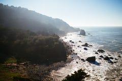 Spiaggia della roccia di miglio Fotografie Stock