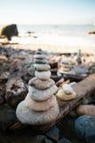Spiaggia della roccia di miglio fotografie stock libere da diritti