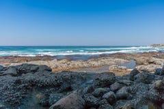 Spiaggia della roccia di Shakas Fotografie Stock Libere da Diritti