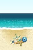 Spiaggia della sabbia Immagine Stock