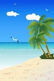 Spiaggia della sabbia di paesaggio Fotografia Stock