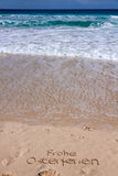 Spiaggia della sabbia in estate Fotografia Stock