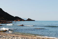 Spiaggia della Sardegna Fotografia Stock Libera da Diritti