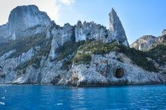 Spiaggia della Sardegna Cala Goloritze Fotografie Stock Libere da Diritti