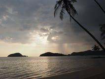 Spiaggia della scimmia, Koh Mak, Tailandia Fotografie Stock