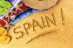 Spiaggia della Spagna Fotografie Stock