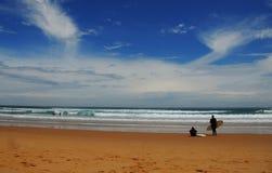 Spiaggia della spuma Fotografia Stock