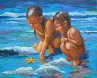 Spiaggia della stella Immagini Stock Libere da Diritti