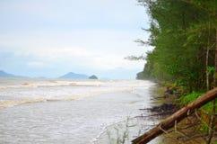 Spiaggia della tempesta Fotografia Stock Libera da Diritti