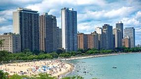 Spiaggia della via della quercia in Chicago Fotografia Stock Libera da Diritti