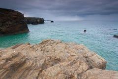 Spiaggia delle cattedrali fotografia stock libera da diritti