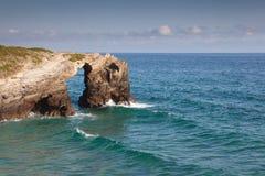 Spiaggia delle cattedrali fotografia stock