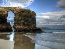 Spiaggia delle cattedrali immagine stock