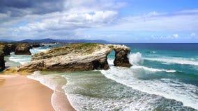 Spiaggia delle cattedrali Immagini Stock