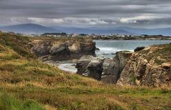 Spiaggia delle cattedrali fotografie stock
