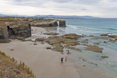 Spiaggia delle cattedrali in Spagna immagine stock