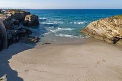 Spiaggia delle cattedrali in Spagna Immagini Stock Libere da Diritti
