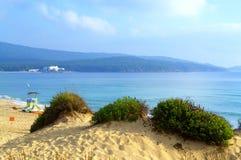 Spiaggia delle dune di sabbia, Primorsko Bulgaria Fotografie Stock Libere da Diritti