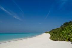 Spiaggia delle Maldive Fotografia Stock Libera da Diritti