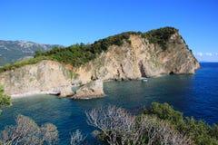 Spiaggia delle montagne Immagine Stock