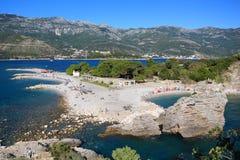 Spiaggia delle montagne Fotografie Stock Libere da Diritti