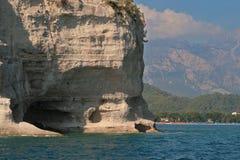 Spiaggia delle montagne della Turchia Fotografia Stock Libera da Diritti